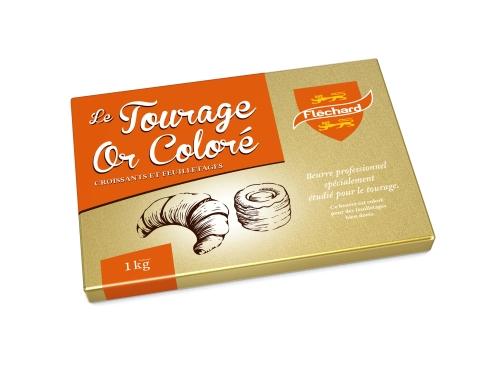 flechard Beurre de tourage coloré feuilletage croissant